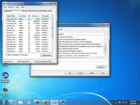 System Config & Task Scheduler For Windows 7