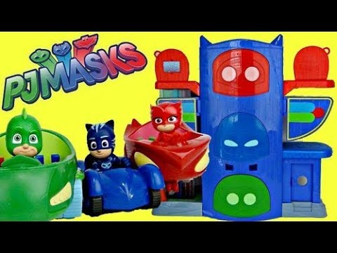PJ MASKS Headquarters HQ Playset with Owlette, Catboy & Gekko!