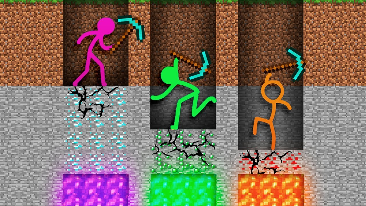 Stickman vs Minecraft Alan Becker Animator vs Animation vs. Minecraft Shorts AVM Shorts  Ep 4