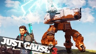 HUGE MECH BATTLE IN JUST CAUSE 3!!! :: Just Cause 3 Land Assault DLC!