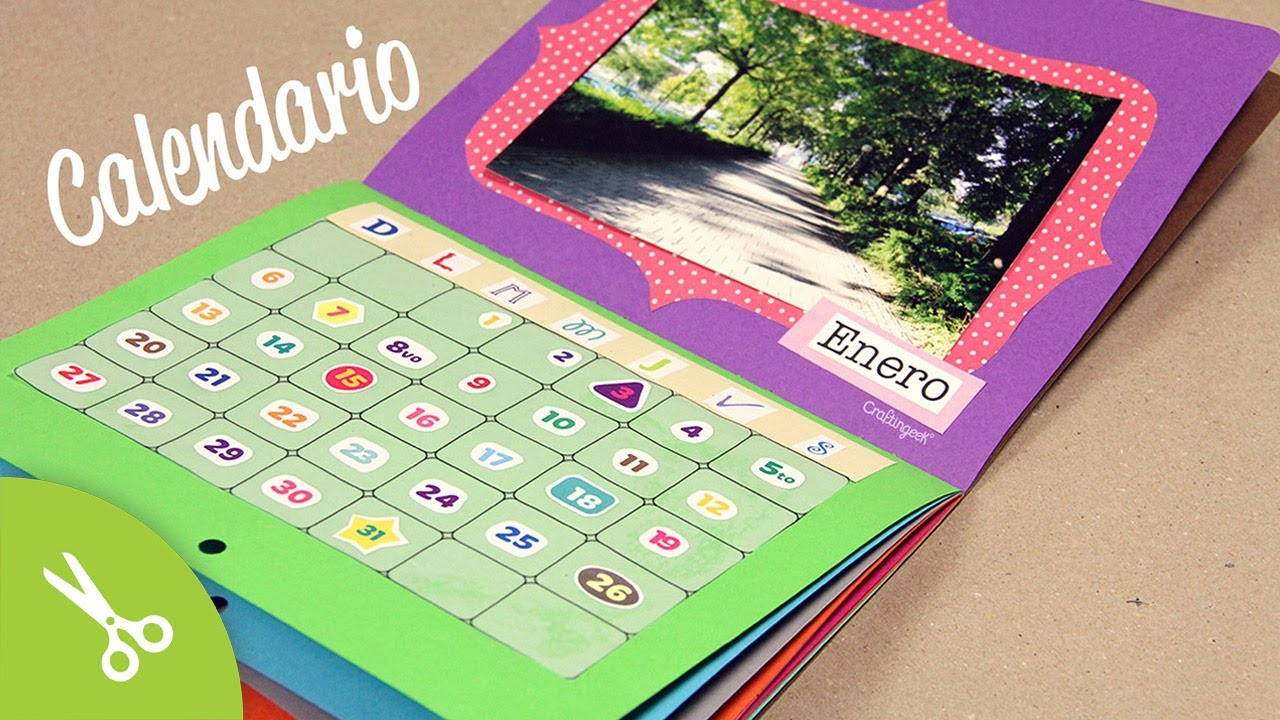 Haz un calendario 2013 con fotos y a tu gusto youtube for Calendario manualidades