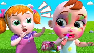 Little Baby Makeup | Educational Nursery Rhymes \u0026 Kids Songs - BillionSurpriseToys