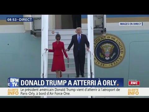 Donald et Melania Trump ont posé le pied à Paris
