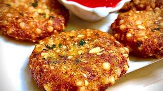कुरकुरे साबूदाना वड़ा बनाये व्रत मैं | Sabudana Vada for Fast | Navratri special Sabudana Vada recipe