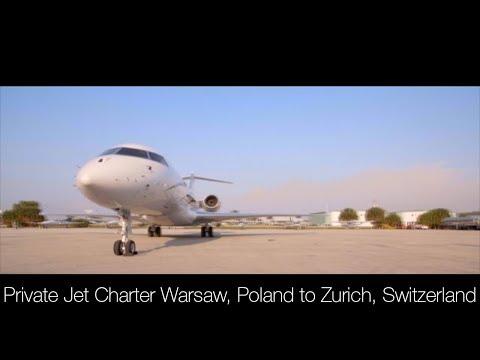 Private Jet Charter Warsaw, Poland to Zurich, Switzerland