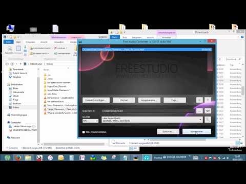 Convert Video to Audio - German - [f.e. .mp4 to .mp3]