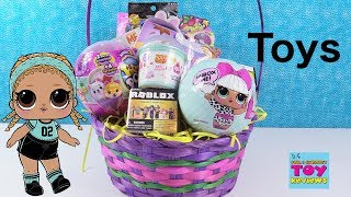 LOL Surprise Easter Basket Full of Toys Disney Coco MLP Roblox Unboxing | PSToyReviews