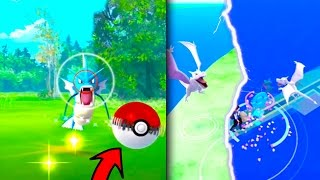 The WILD GYARADOS Pokeball Challenge! + Wild Aerodactyls! - Pokemon Go - BEST MEET UP EVER!