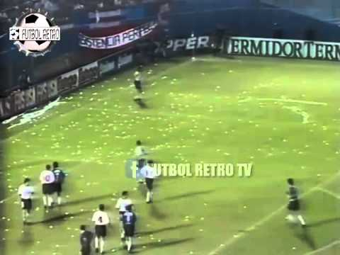 Racing 1 vs Estudiantes LP 1 CLAUSURA 1996 Bossio gol de cabeza