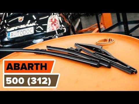 COMO SUBSTITUIR ESCOVAS DO LIMPA VIDROS FIAT 500 ABARTH (312) [TUTORIAL AUTODOC]