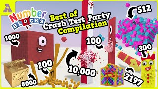 Wow!?! Ultimate Numberblocks Compilation! Awesome Numberblock 1000, 8000, 10,000 Crash Test Parteh!