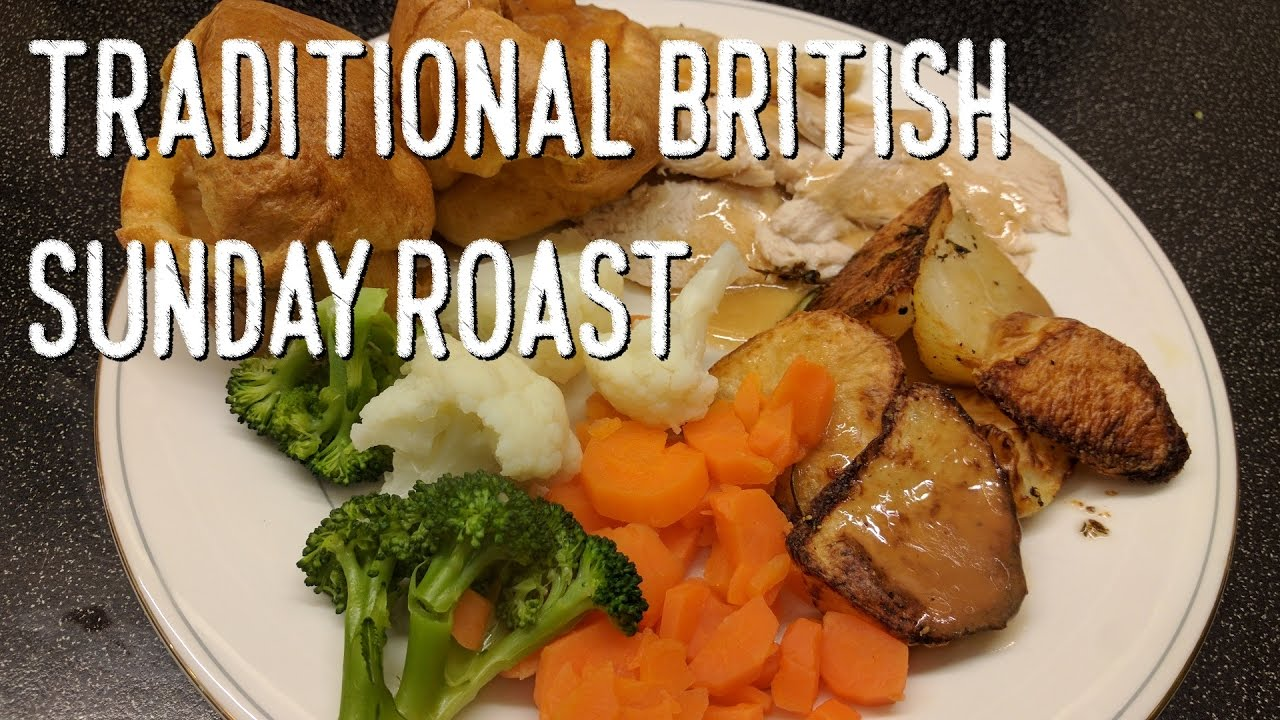 Traditional British Sunday Roast Chicken Dinner Youtube