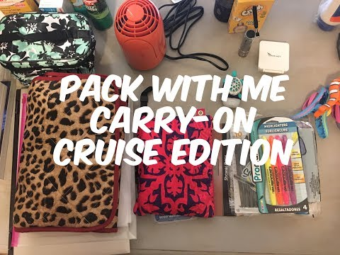 Pack With Me / Carry-on / Cruise Edition / Caribbean