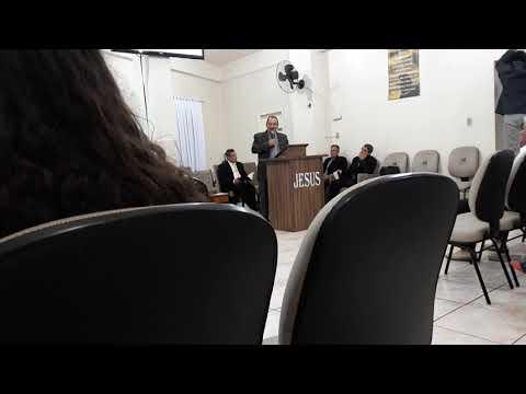 PR. Natanael ministrando na congregação do Mato Preto em São  Bento do Sul