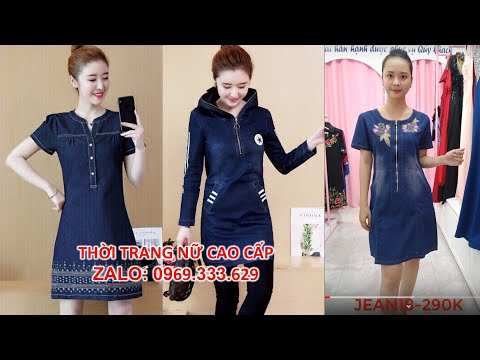 Top 10 Kiểu Áo Đầm Jean Suông, Ôm Đẹp Hot Nhất 2019 Rất Dễ Thương. Xem Ngay