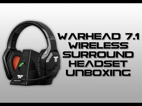 Tritton Warhead 7.1 Wireless Surround Headset for XBOX 360 Unboxing