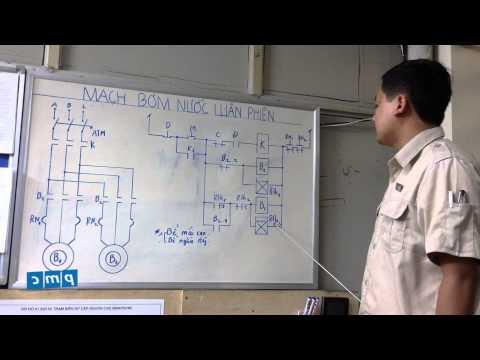 PMC - Sơ đồ mạch điều khiển 2 máy bơm nước luân phiên