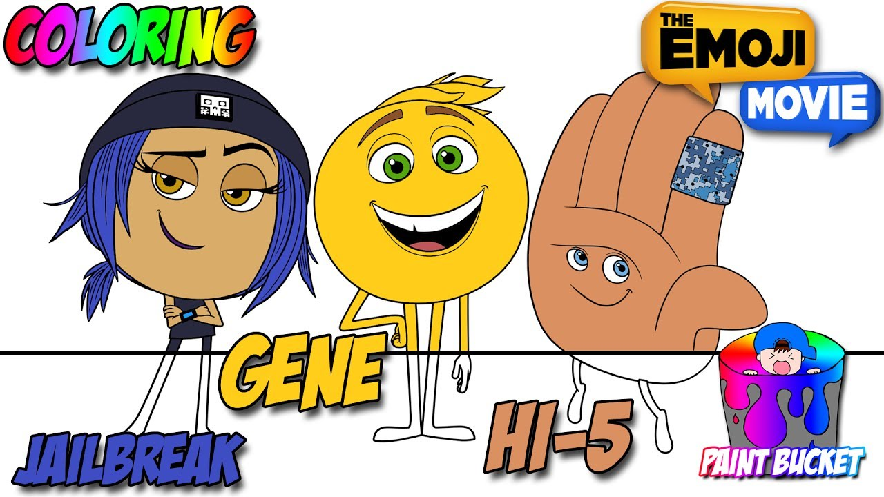 The Emoji Movie Coloring Pages Gene Jailbreak Hi 5 Emoji Coloring Book For Kids
