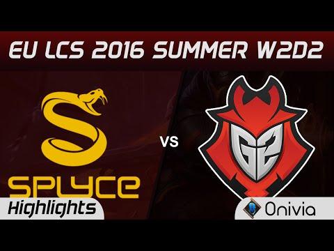 SPY vs G2 highlights Game 1 EU LCS 2016 Summer W2D2 Splyce vs G2 Esports