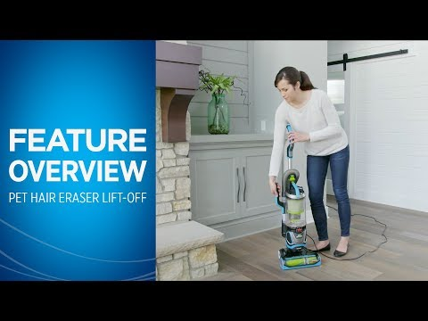 How to use the Pet Hair Eraser Lift Off Upright Vacuum | BISSELL