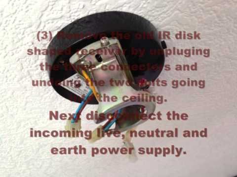 How to change a westinghouse ceiling fan ir remote youtube how to change a westinghouse ceiling fan ir remote mozeypictures Images