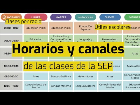 Horarios y canales de las clases de la SEP: consúltalos aquí