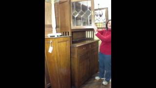 Antique French Arts And Crafts Buffet China Cabinet 5-15b-0