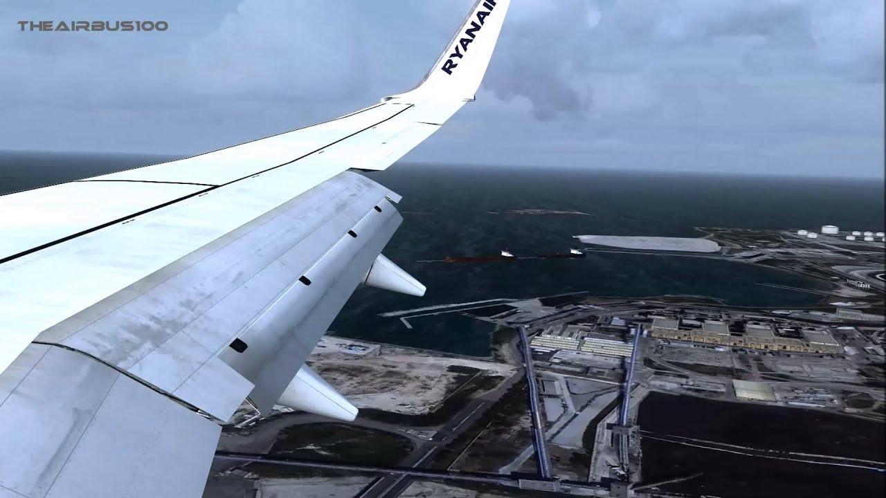 Aeroporto Brindisi : Fsx ryanair b landing aeroporto di brindisi casale youtube