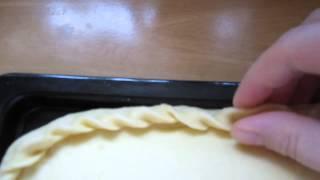 как сделать красиво края пирогов