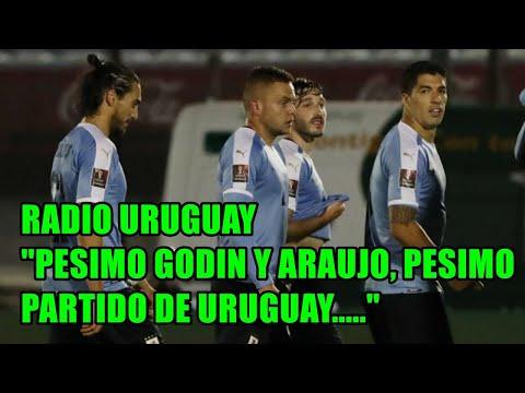 """ECUADOR 4 URUGUAY 2 RADIO URUGUAYA """"PESIMO PARTIDO DE GODIN Y ARAUJO, PESIMO URUGUAY"""""""