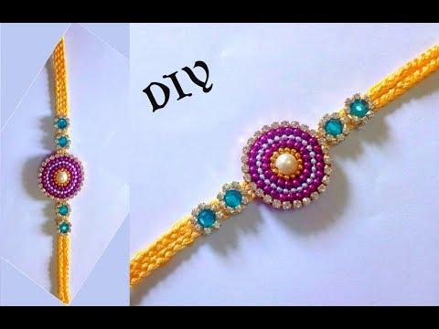 DIY craft : How to make rakhi at home using silk thread
