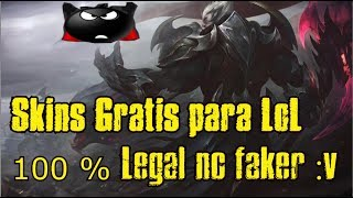 TODAS LAS SKINS DE LOL GRATIS . PERO CON PROGRAMA 200 % LEGAL NO FAKER 2018 | LEAGUE OF LEGENDS |