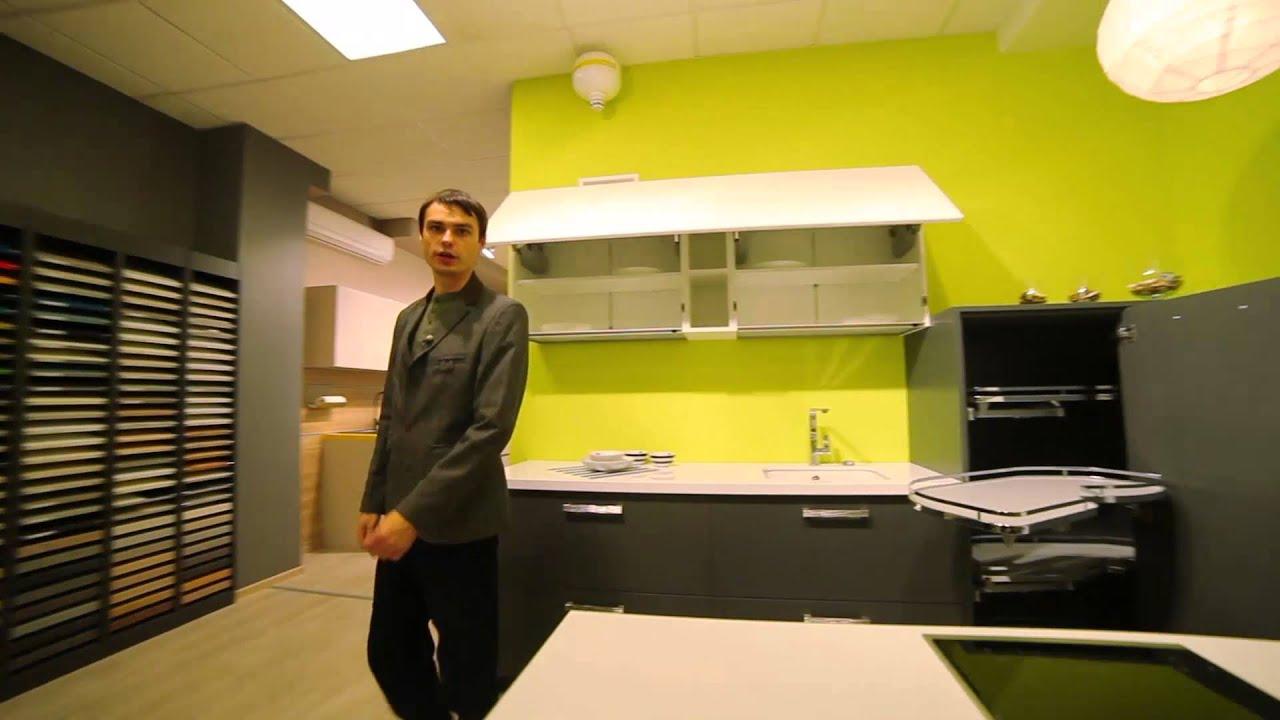 Белый глянцевый стол Орион - YouTube