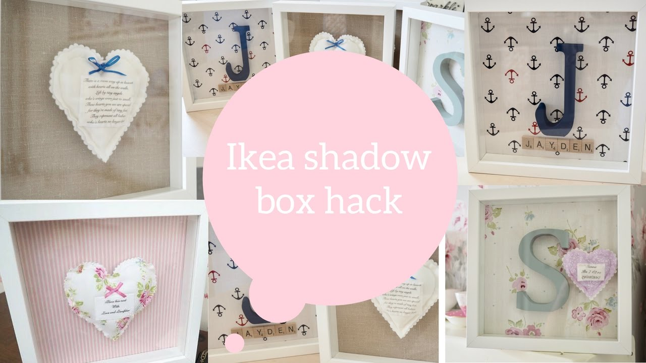 Ikea hack, How to make a shadow box / box frame | Dainty diaries ...