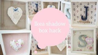 Ikea hack, How to make a shadow box / box frame | Dainty diaries