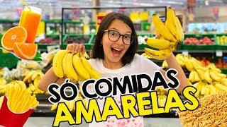 24 HORAS SÓ COMENDO COMIDAS AMARELAS | Luluca