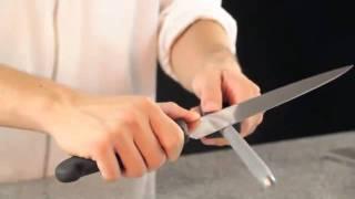 Como afilar un cuchillo con chaira, Videotutorial.
