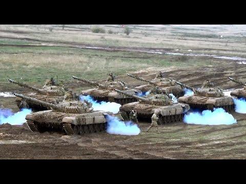 T-72 harckocsik beindítása a Brave Warrior 2015. harcászati gyakorlat  végén, Gyulafirátót közelében