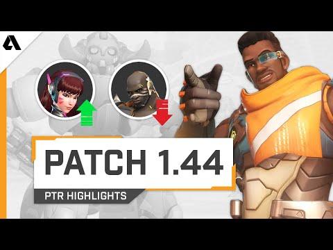 Overwatch PTR Patch 1.44 - Baptiste, Doomfist & Mei NERFED