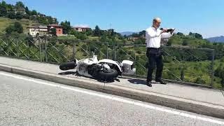 Scontro auto moto Montevecchia