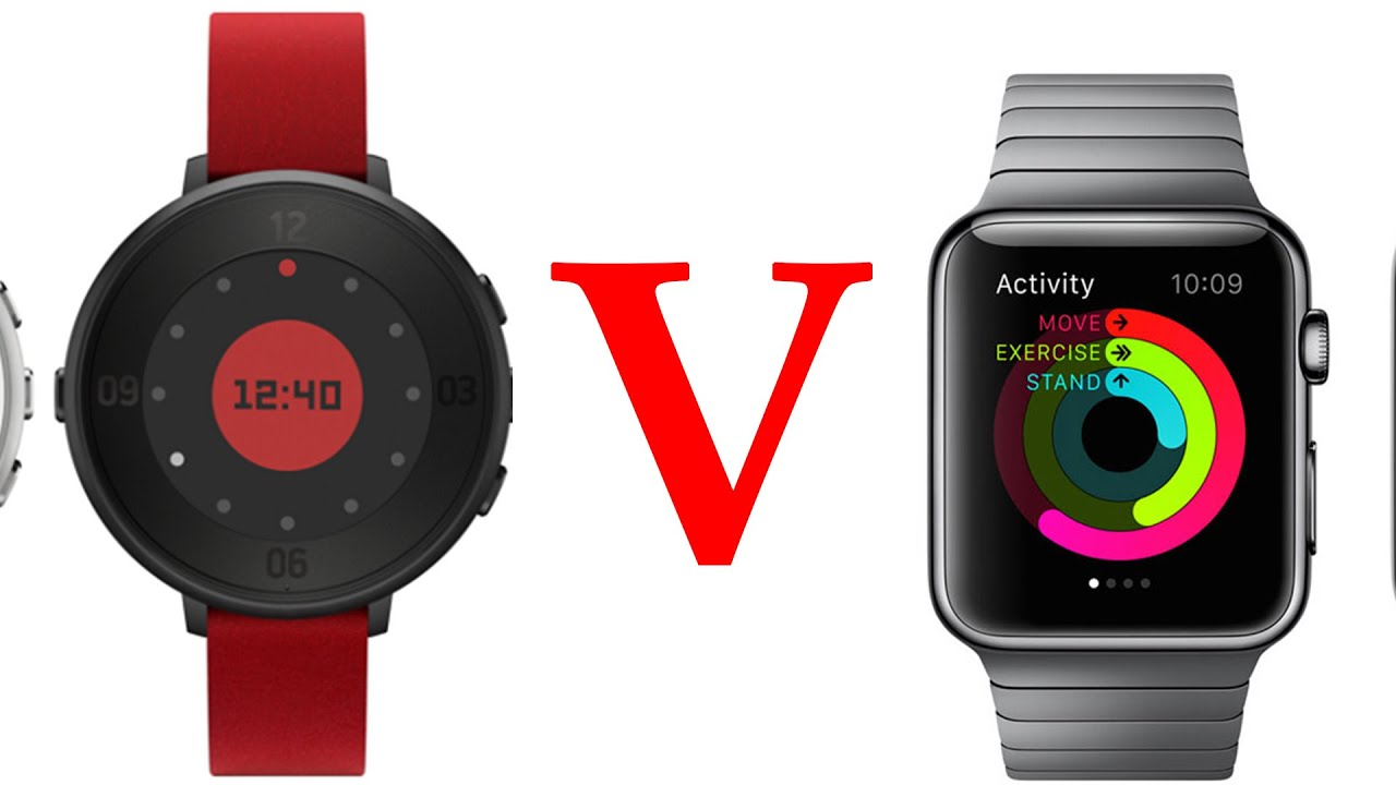 Pebble Time Round vs Apple Watch! (Display, Thickness ...