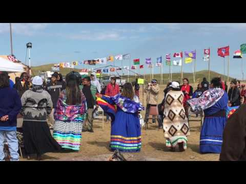 Hualapai Indian Tribe Arriving at Standing Rock Camp. Peace Water is Life