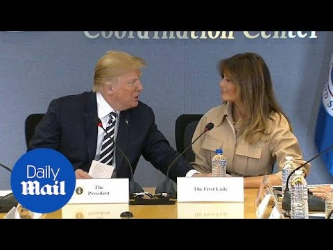 Donald Trump praises wife Melania during a meeting with FEMA - Daily Mail