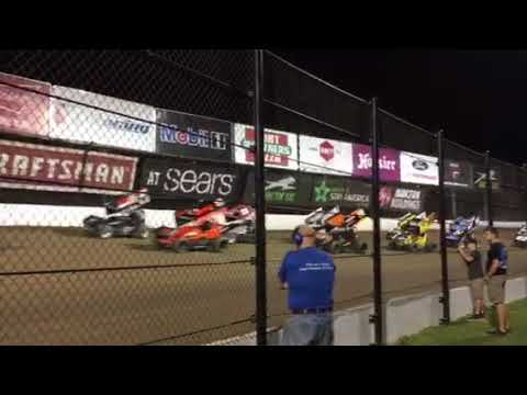 Eldora Speedway First 3 Laps World of Outlaws 9-22-17