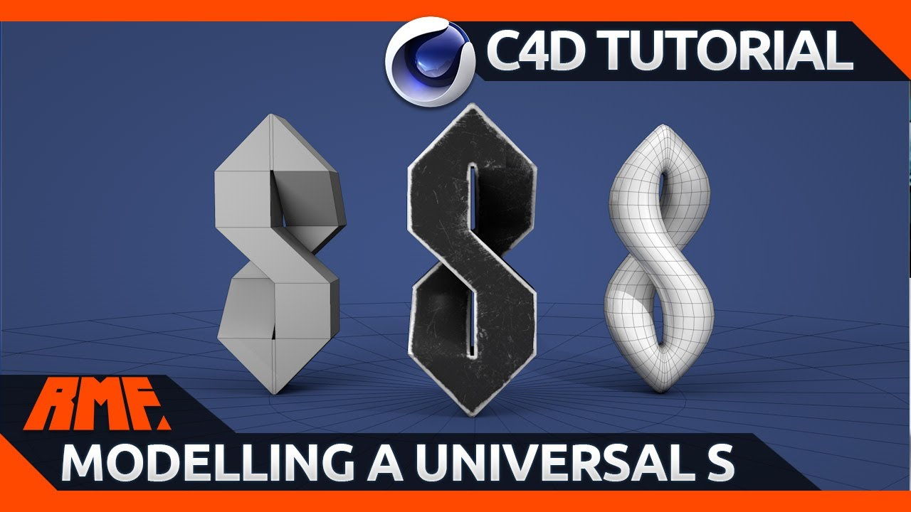 Cinema 4D Tutorial | Modelling a Universal S (+ texturing with Substance Painter)