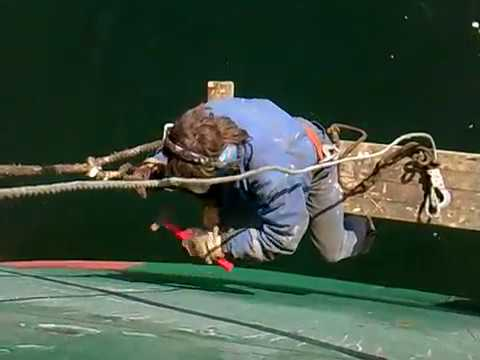 Ordinary seaman job on board # work overboard on the staging