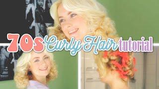 70s curly hair tutorial