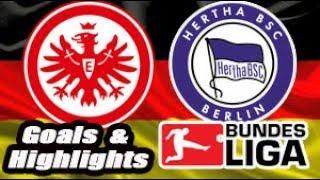 Eintracht Frankfurt vs Hertha Berlim - 2017-18 Bundesliga Highlights