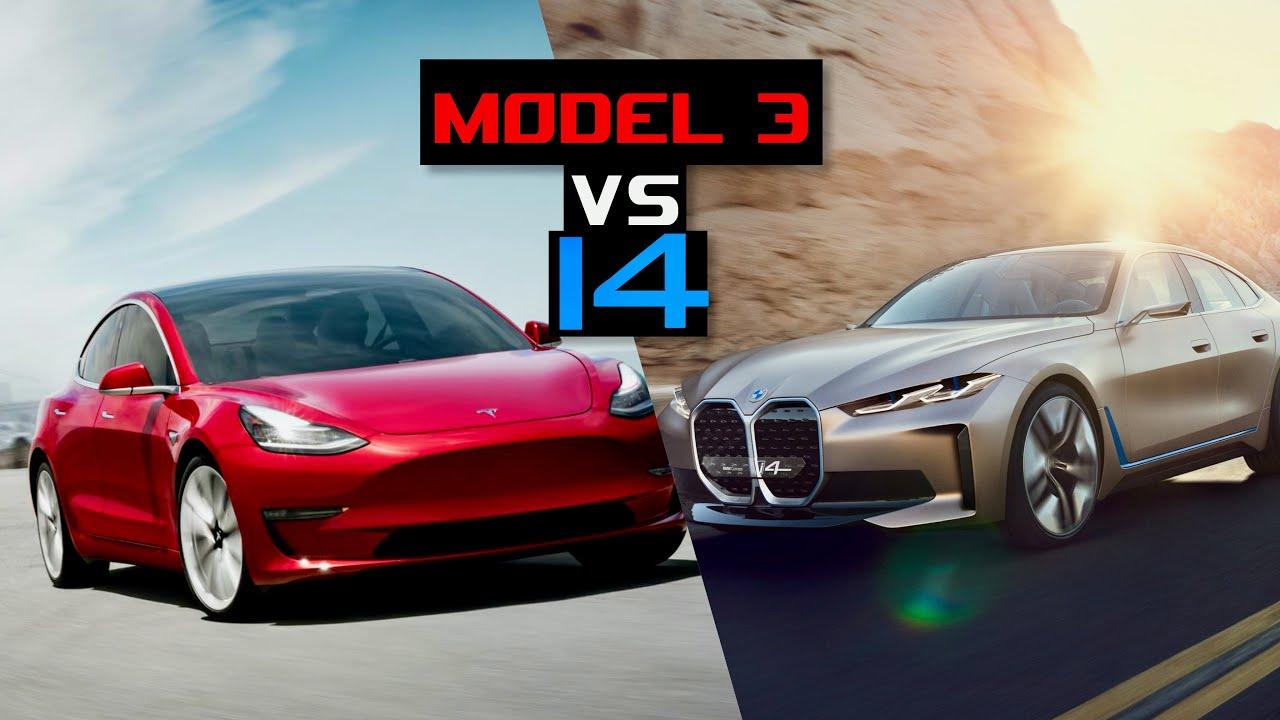 Tesla Model 3 Vs Bmw I4 Electric Car Kings Inside Lane Youtube