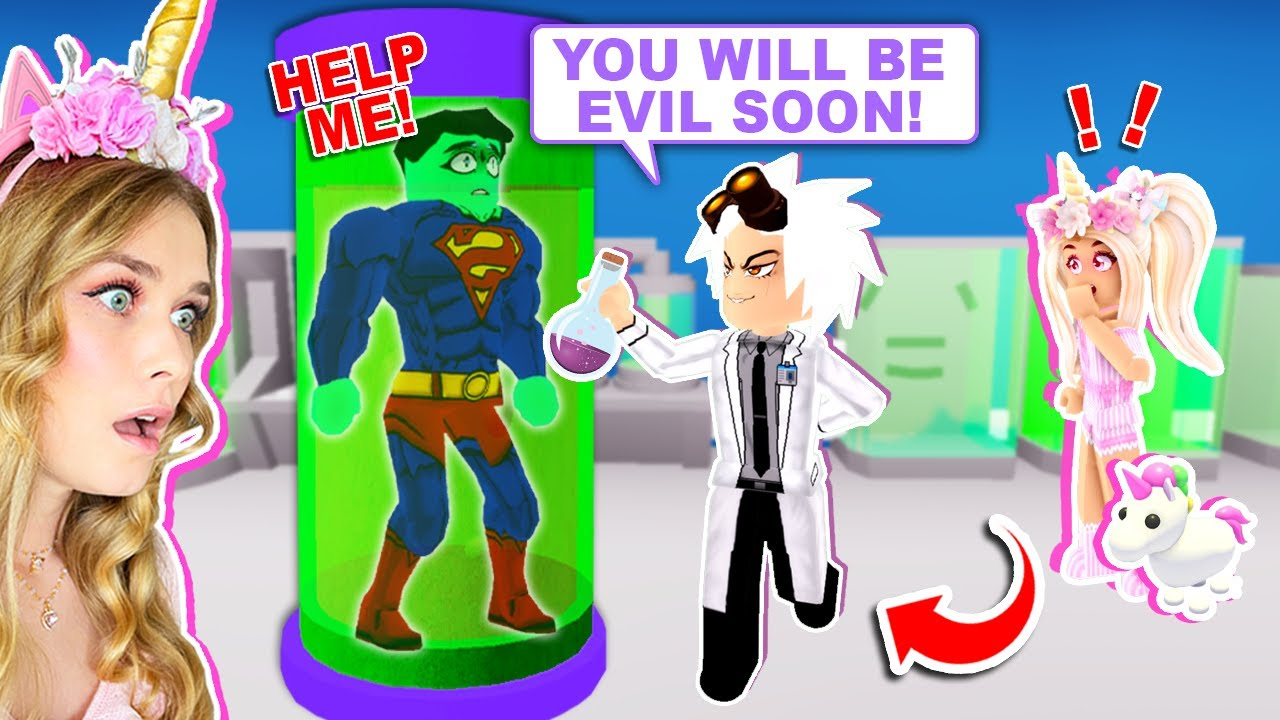EVIL SCIENTIST EXPERIMENTS On SUPER HEROS In Adopt Me! (Roblox)